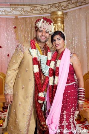 Indian wedding portrait ceremony bride groom