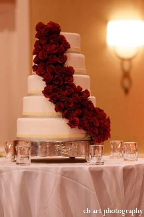 Indian wedding reception cake floral