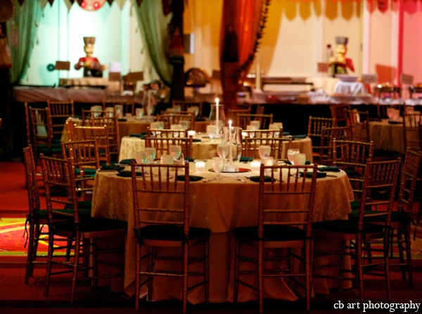 indian wedding reception decor tablesetting