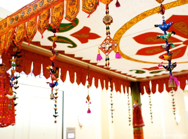 Indian wedding reception tent decor