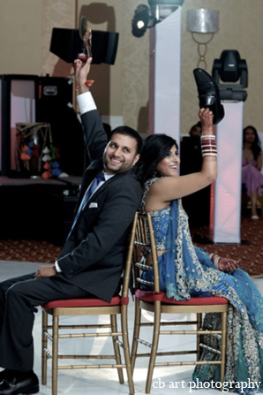 Indian wedding reception tradition bride groom