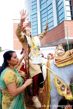 Indian wedding tradition baraat groom