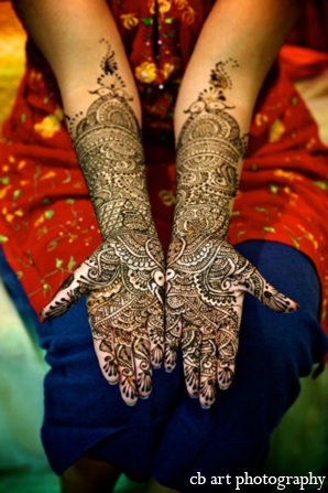 Indian wedding tradition bridal mehndi
