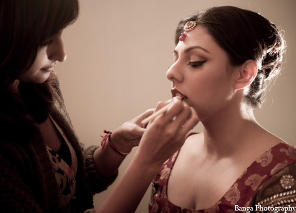 Indian wedding bridal makeup hair in Toronto, Ontario Indian Wedding by Banga Photography