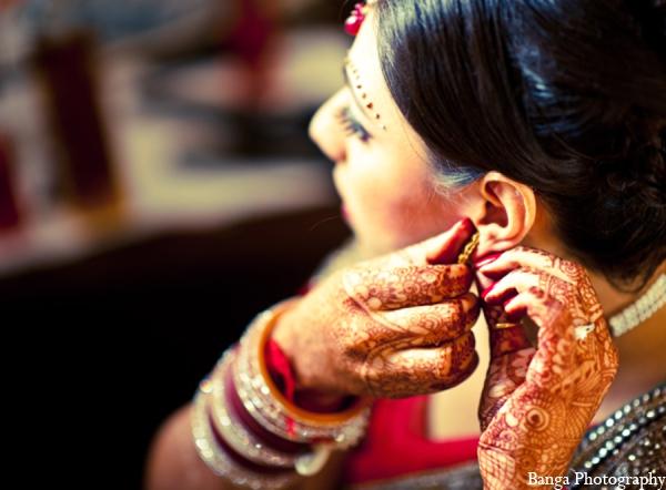 Indian wedding bride mehndi jewelry in Toronto, Ontario Indian Wedding by Banga Photography