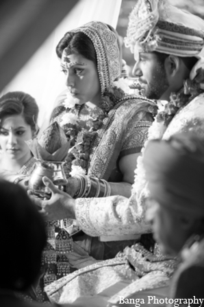 Indian wedding ceremonial mandap in Toronto, Ontario Indian Wedding by Banga Photography