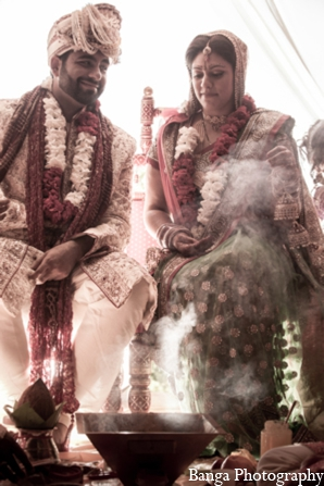 Indian wedding mandap bride groom in Toronto, Ontario Indian Wedding by Banga Photography