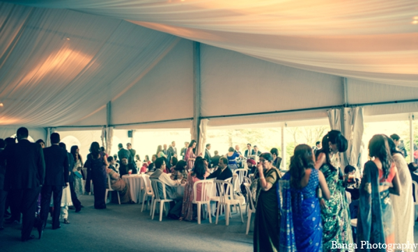 Indian wedding outdoor tent reception in Toronto, Ontario Indian Wedding by Banga Photography