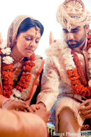 Indian wedding outfits bride groom in Toronto, Ontario Indian Wedding by Banga Photography