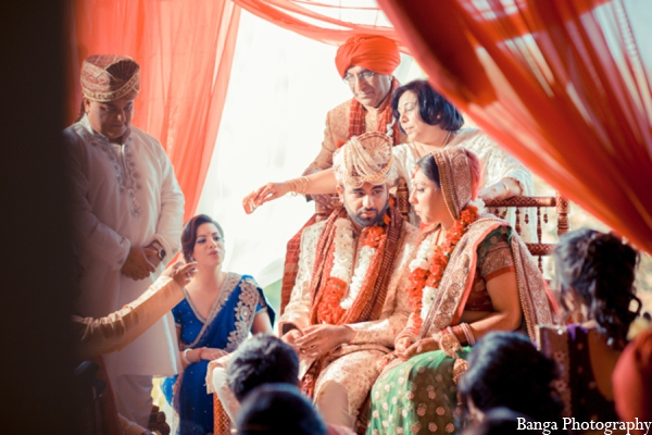 Indian wedding traditional mandap in Toronto, Ontario Indian Wedding by Banga Photography