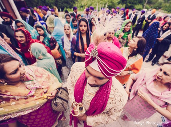 Indian wedding baraat groom sherwani in Glen Rock, NJ Indian Wedding by Banga Photography