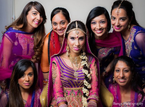 Indian wedding bridal party in Glen Rock, NJ Indian Wedding by Banga Photography