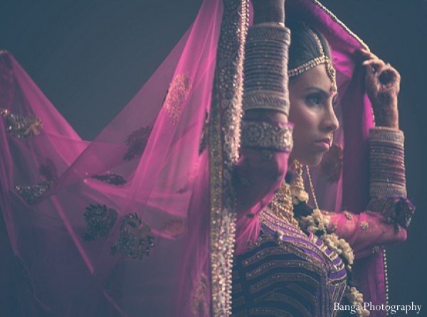Indian wedding bride getting ready in Glen Rock, NJ Indian Wedding by Banga Photography