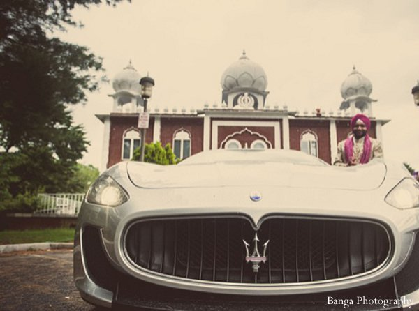 Indian wedding car baraat in Glen Rock, NJ Indian Wedding by Banga Photography