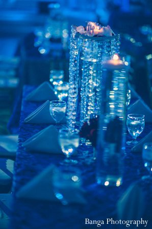Indian wedding dc decor reception blue in Glen Rock, NJ Indian Wedding by Banga Photography