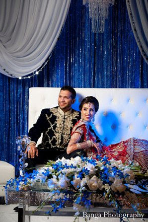 Indian wedding dc reception portrait in Glen Rock, NJ Indian Wedding by Banga Photography