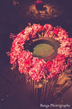 Indian wedding floral pink reception in Glen Rock, NJ Indian Wedding by Banga Photography