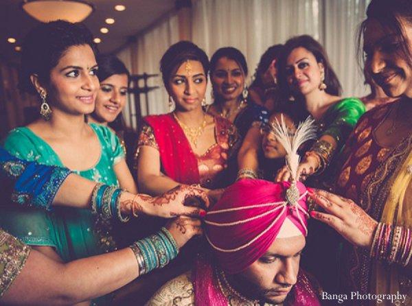 Indian wedding groom getting ready in Glen Rock, NJ Indian Wedding by Banga Photography