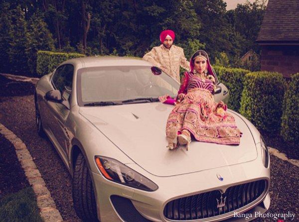 Indian wedding photo shoot car in Glen Rock, NJ Indian Wedding by Banga Photography