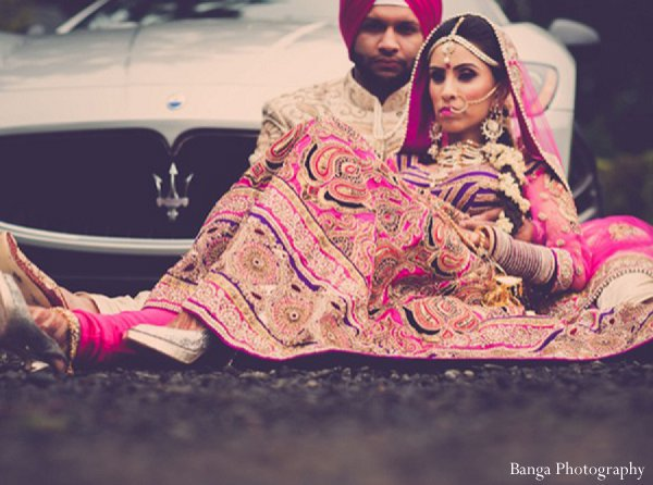 Indian wedding photo shoot newlyweds in Glen Rock, NJ Indian Wedding by Banga Photography