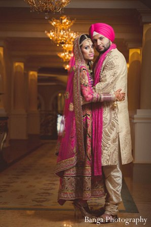 Indian wedding photography newlyweds in Glen Rock, NJ Indian Wedding by Banga Photography
