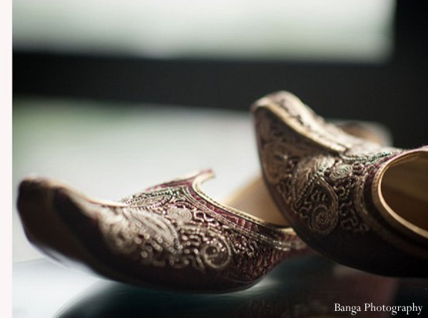 Indian wedding shoes groom get ready in Glen Rock, NJ Indian Wedding by Banga Photography