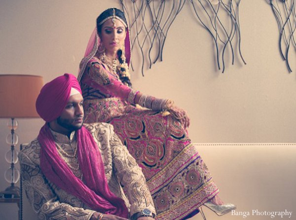 Indian weddings portraits newlyweds in Glen Rock, NJ Indian Wedding by Banga Photography