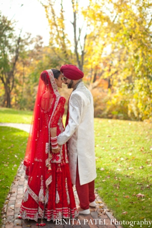 Indian wedding couple in Woburn, MA Indian Fusion Wedding by Binita Patel Photography