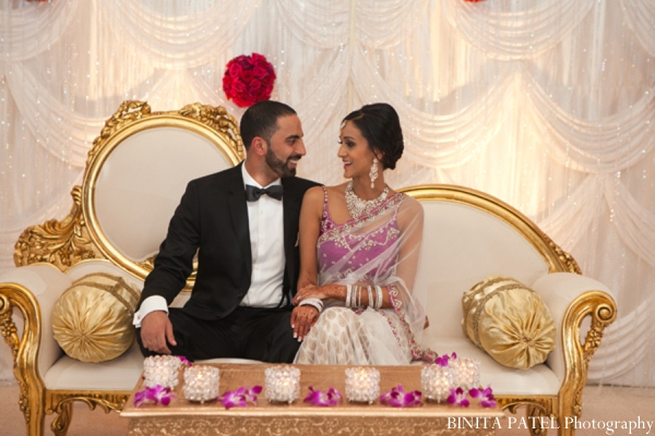 Indian wedding decor in Woburn, MA Indian Fusion Wedding by Binita Patel Photography