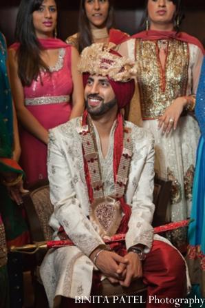 Indian wedding groom baraat in Woburn, MA Indian Fusion Wedding by Binita Patel Photography