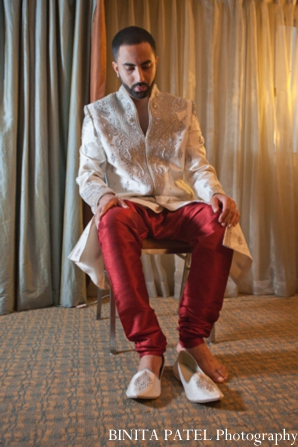 Indian wedding groom shoes in Woburn, MA Indian Fusion Wedding by Binita Patel Photography