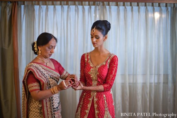 Indian wedding mother bride in Woburn, MA Indian Fusion Wedding by Binita Patel Photography
