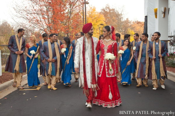 Indian wedding party in Woburn, MA Indian Fusion Wedding by Binita Patel Photography