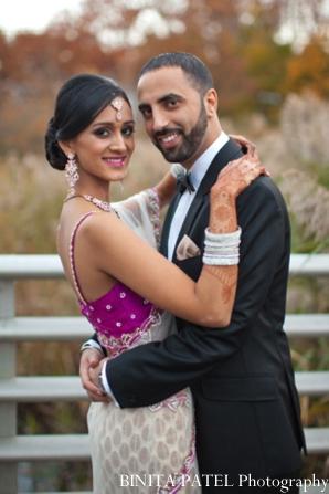 Indian wedding portrait reception in Woburn, MA Indian Fusion Wedding by Binita Patel Photography