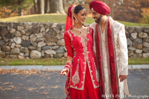 Indian wedding portrait in Woburn, MA Indian Fusion Wedding by Binita Patel Photography