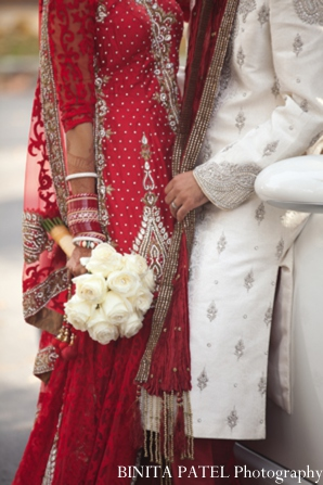 Indian wedding portraits car in Woburn, MA Indian Fusion Wedding by Binita Patel Photography