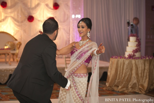 Indian wedding reception in Woburn, MA Indian Fusion Wedding by Binita Patel Photography