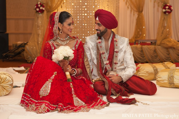Indian wedding sikh ceremony in Woburn, MA Indian Fusion Wedding by Binita Patel Photography