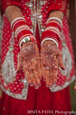 Traditional bridal mehndi in Woburn, MA Indian Fusion Wedding by Binita Patel Photography