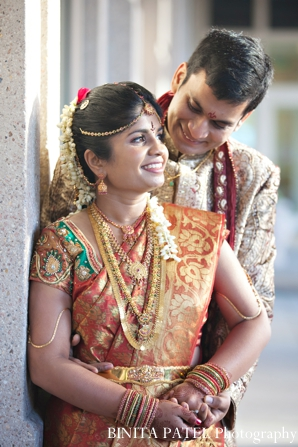 Indian wedding bride groom portraits outdoors in Boston, Massachusetts Indian Wedding by Binita Patel Photography