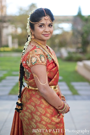 Indian wedding bridal portrait traditional dress in Boston, Massachusetts Indian Wedding by Binita Patel Photography