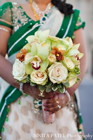 Indian wedding bridal bouquet inspiration floral in Boston, Massachusetts Indian Wedding by Binita Patel Photography