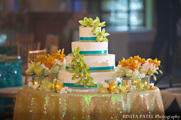 Indian wedding reception cake dessert table in Boston, Massachusetts Indian Wedding by Binita Patel Photography