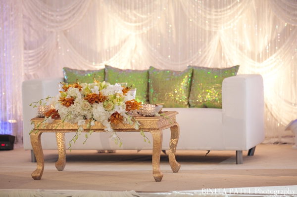 Indian wedding reception decor ideas in Boston, Massachusetts Indian Wedding by Binita Patel Photography