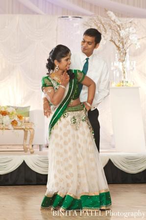 indian wedding bridal reception portrait