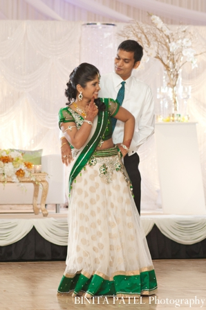 Indian wedding bridal reception portrait in Boston, Massachusetts Indian Wedding by Binita Patel Photography