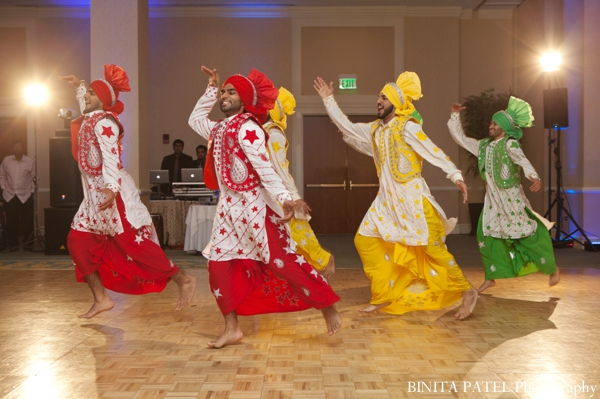 Indian wedding reception dancing entertainment in Boston, Massachusetts Indian Wedding by Binita Patel Photography