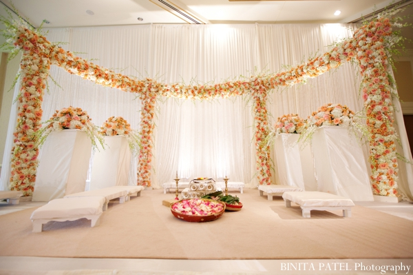 Indian wedding ceremony decor in Boston, Massachusetts Indian Wedding by Binita Patel Photography