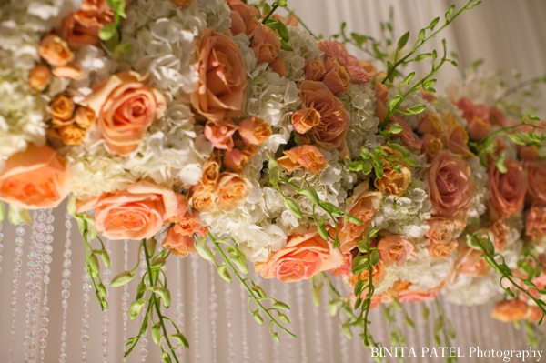 Indian wedding ceremony floral decor in Boston, Massachusetts Indian Wedding by Binita Patel Photography