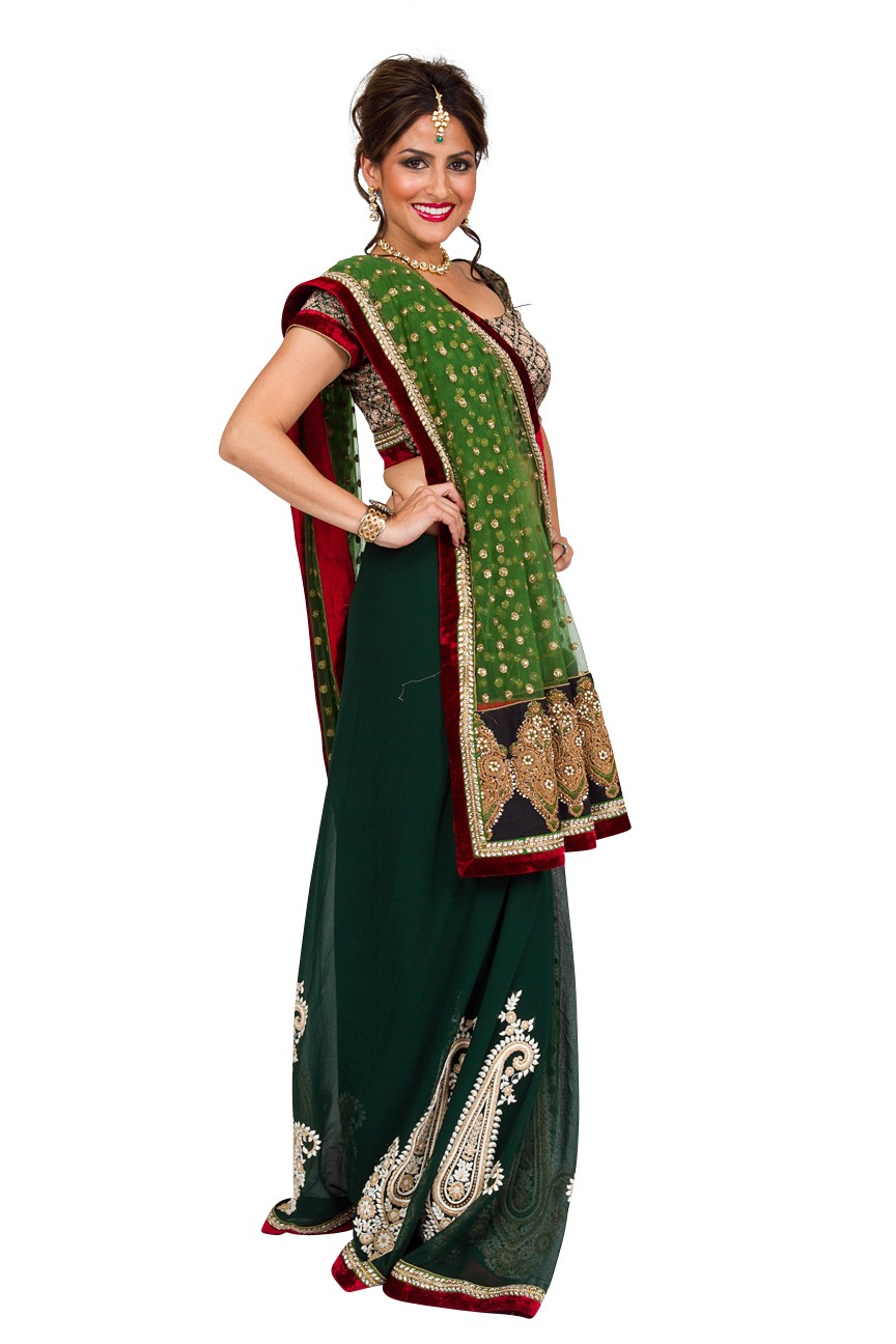 Exclusive-collection-forest-fawn-saree